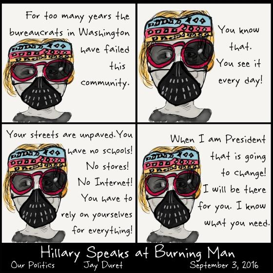 Hillary Speaks at Burning Man