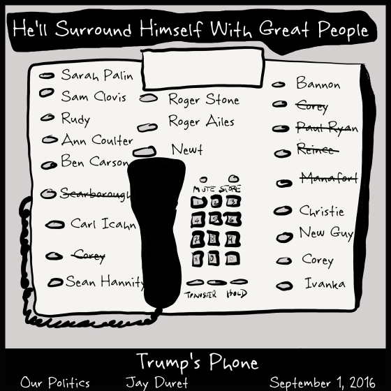 Trump's Phone September 4, 2016