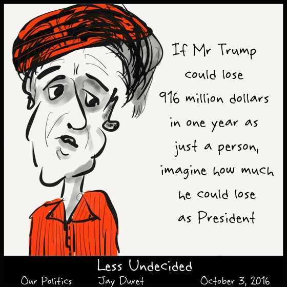 Less Undecided October 3, 2016