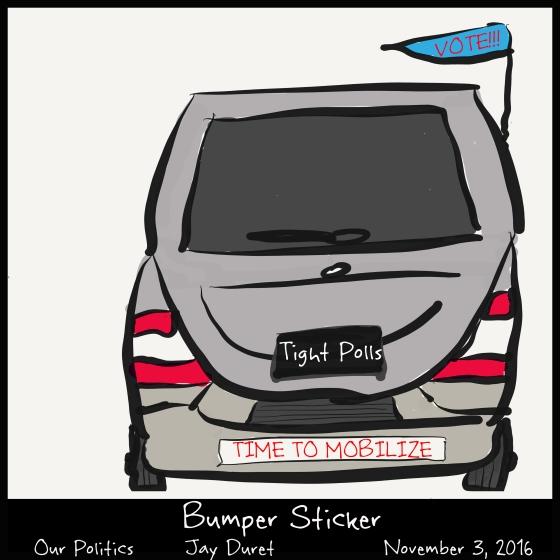 Bumper Sticker November 3, 2016