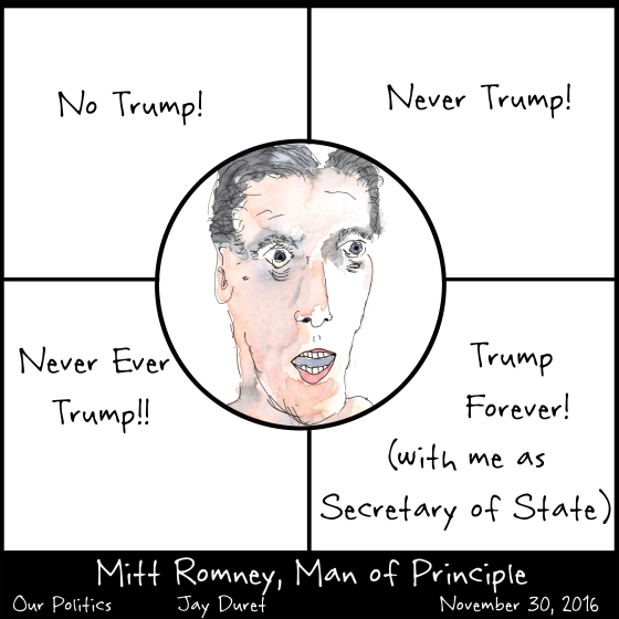 Mitt Romney, Man of Principle November 30, 2016