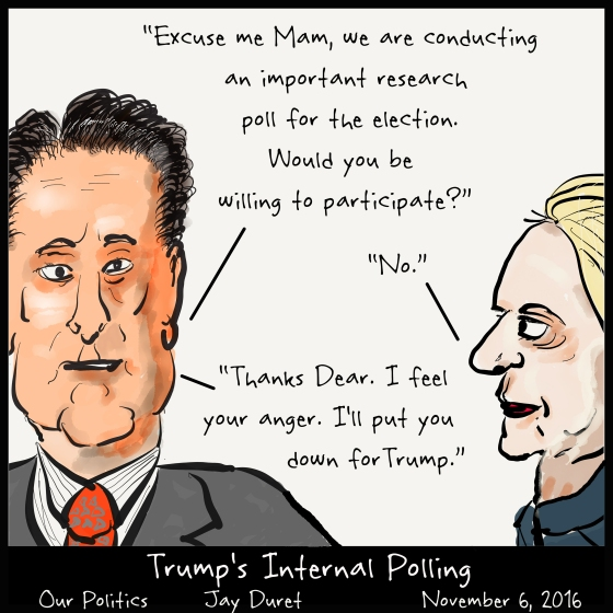 Trump's Internal Polling November 6, 2016