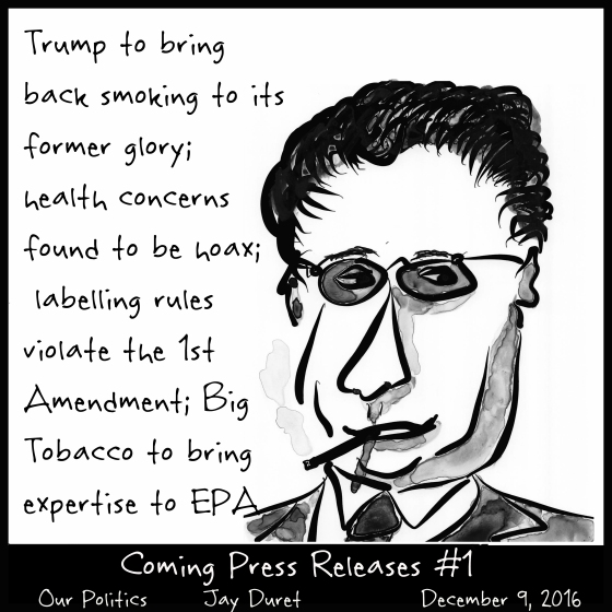 Coming Press Releases #1 December 9, 2016